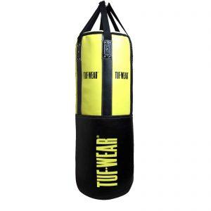 Tuf-Wear 4FT 18inch Diameter Punchbag Nylon / Leather 50KG – Black/Yellow