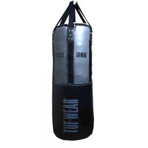 Tuf-Wear 4FT 18inch Diameter Punchbag Nylon / Leather 50KG – Black/Grey