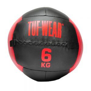 Tuf-Wear 6KG Wall Ball – Black/Red