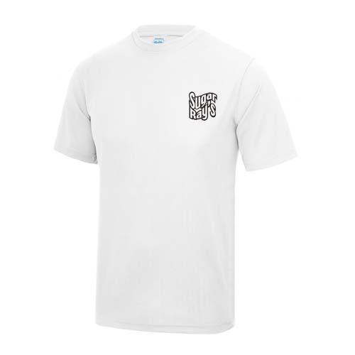 Sugar Ray's Cool Tech Training T-Shirt – White/Black