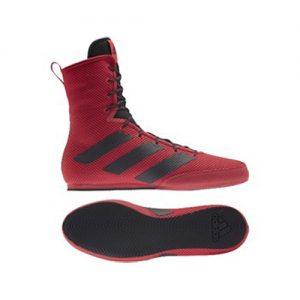 Adidas Box Hog 3 Boxing Boots – Red/Black