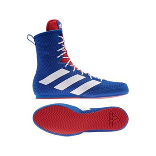 Adidas Box Hog 3 Boxing Boots – Blue/Silver/Red