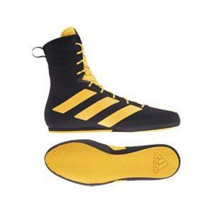 Adidas Box Hog 3 Boxing Boots – Black/Gold