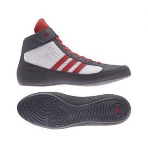 Adidas Junior Havoc K-Lace Wrestling Shoe – Grey/Red/White