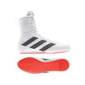 Adidas Box Hog 3 Boxing Boots – White/Black/Red