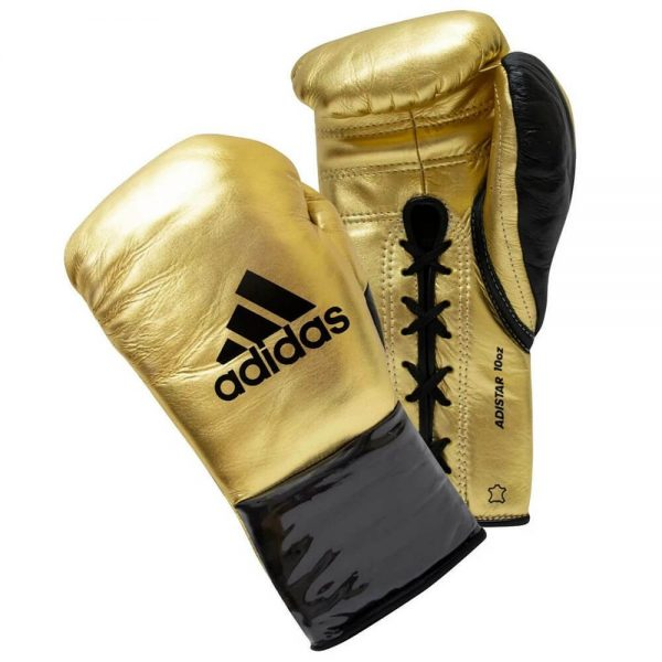 Adidas AdiStar 3.0 BBBC Approved Pro Boxing Gloves – Gold/Black