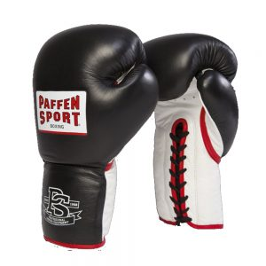 Paffen Sport Pro Heavy Hitter Lace-Up Sparring Gloves – Black/White/Red