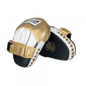 Paffen Sport Pro Professional Punch Mitts – White/Gold