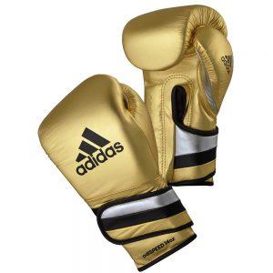 Adidas AdiSpeed Hook and Loop Boxing Gloves – Gold/Black/Silver