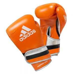 Adidas AdiSpeed Hook and Loop Boxing Gloves – Orange/Black/Silver