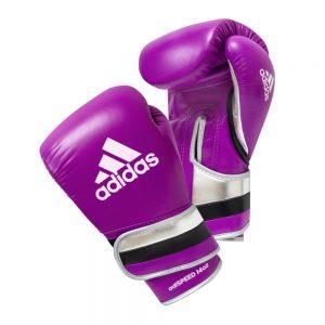 Adidas AdiSpeed Hook and Loop Boxing Gloves – Purple/Black/Silver