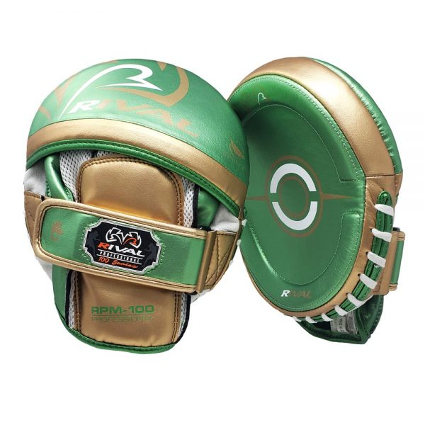 Rival RPM100 Professional Punch Mitts – Green/Gold