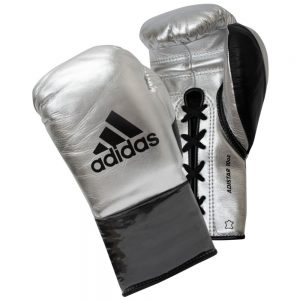 Adidas AdiStar 3.0 BBBC Approved Pro Boxing Gloves – Silver/Black