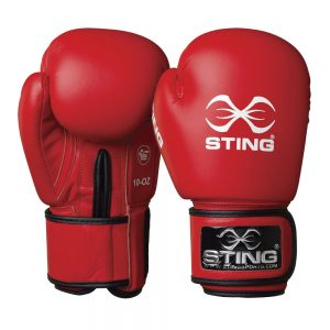 Sting AIBA Competition Boxing Gloves – Red