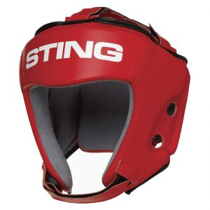 Sting AIBA Competition Boxing Head Guard – Red