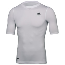 adidas Tech Fit Seamless Short Sleeve Tee White