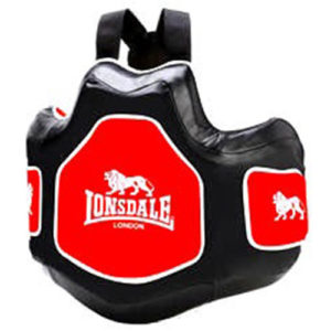 Lonsdale L-60 Trainers Vest Body Protector – Black/Red