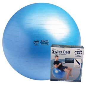 Fitness-Mad 300kg Anti-Burst Swiss Ball, Pump and DVD