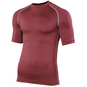 Rhino Performance Baselayer Shortsleeve – Maroon