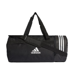 Adidas 3S Convert Black Duffle Sports Equipment Bag – Medium