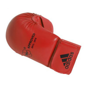 adidas WKF Karate Mitts Without Thumb – Red