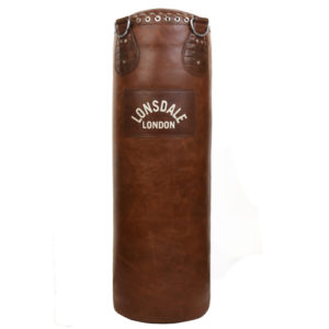 Lonsdale Vintage Collosus Leather Punchbag – Authentic Brown