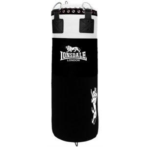 Lonsdale L-60 Heavy Leather 4ft Punch Bag – Black [30kg/35kg]