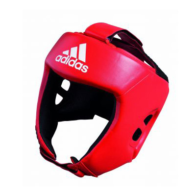 adidas AIBA Style Training Head Guard – Red