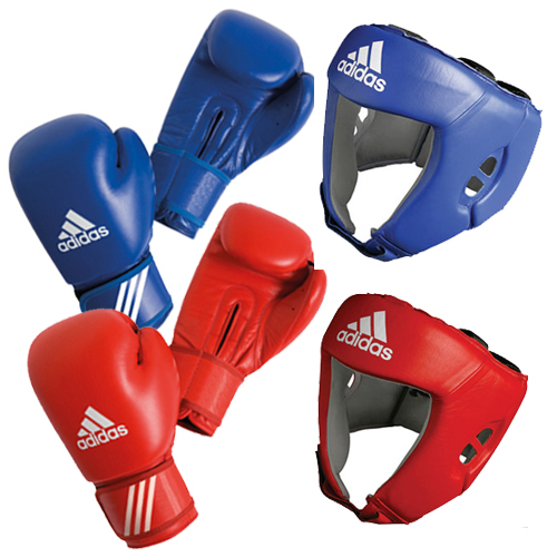 adidas AIBA Boxing Set – 2x AIBA Gloves 2x AIBA Headguards