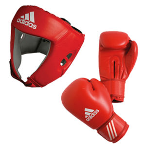 adidas AIBA Boxing Set – Glove + Headguard – Blue