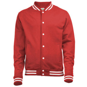 AWDis College Jacket – Fire Red