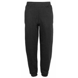 UNBRANDED Kids Cuffed Sweatpants – Black