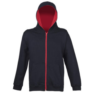 UNBRANDED Kids Varstiy Zoodie – New French Navy/Fire Red