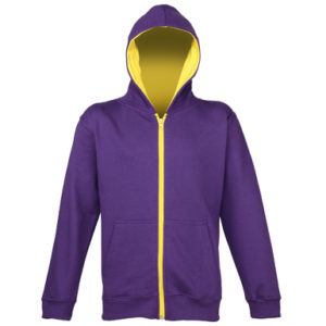 UNBRANDED Kids Varstiy Zoodie – Purple/Sun Yellow