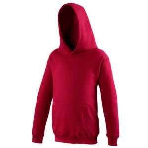UNBRANDED Junior/Kids Workout Hoodie – Red