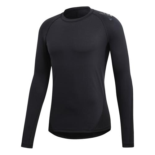 Adidas Alphaskin Sport Long Sleeve Compression Tee – Black