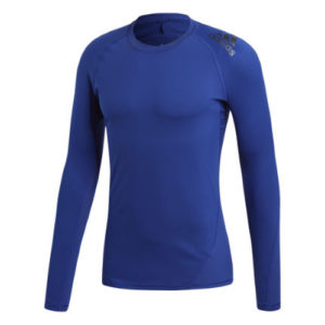 Adidas Alphaskin Sport Long Sleeve Compression Tee – Blue