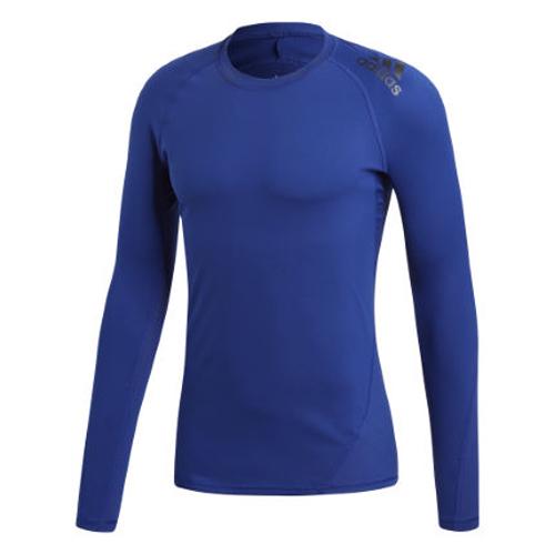 Adidas Alphaskin Sport Long Sleeve Compression Tee – Blue
