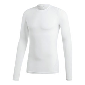 Adidas Alphaskin Sport Long Sleeve Compression Tee – White