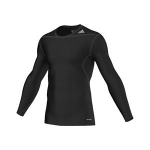 adidas TechFit Seamless Long Sleeve Tee – Black
