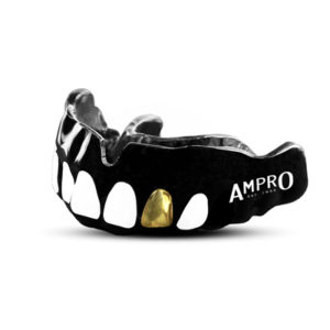 Ampro Custom Dentist Black Performance Mouth Guard – Gold Tooth