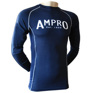 Ampro Junior Performance Base Layer Long Sleeve Top – Navy