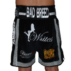 Ampro Custom Made Velvet Boxing Shorts with Mexican Braiding POA