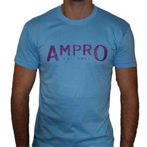 Ampro London West Ham T-Shirt – Sky Blue/Claret