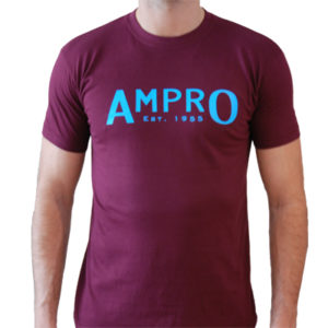 Ampro London West Ham T-Shirt – Claret/Blue