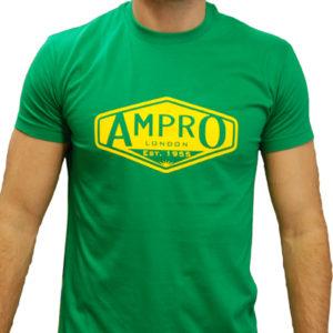Ampro London Classic Club T-Shirt – Green/Yellow