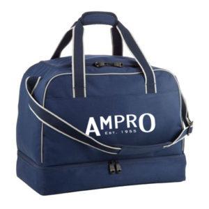 Ampro Performance Navy Team Kit Bag – Hard Base