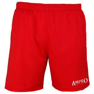 Ampro Reflective Logo Cool Shorts – Fire Red