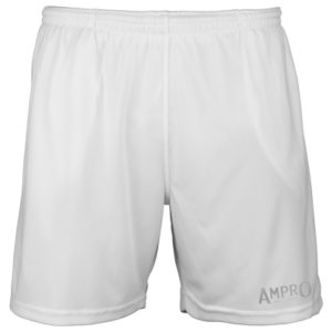 Ampro Reflective Logo Cool Shorts – Artic White
