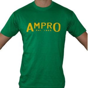 Ampro London Original Club T-Shirt – Green/Yellow